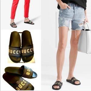 Gucci Pursuit Guccy Slide Sandals